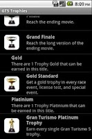Screenshot of GT5 Trophies