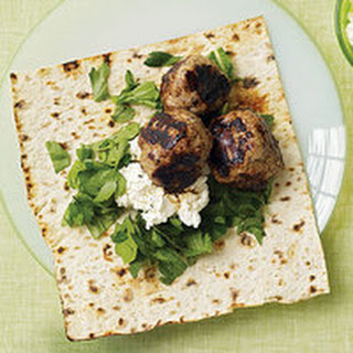 Grape-Stuffed Sausage Meatballs with Flatbread