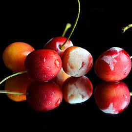 Frozn cherries by Rakesh Syal - Food & Drink Fruits & Vegetables
