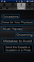 Screenshot of Mens Fashion