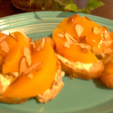 Croissant With Peaches and Honey