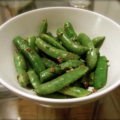 Sugar Snap Peas with Mustard and Chives