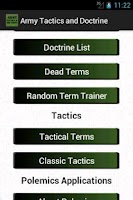 Screenshot of Army Tactics & Doctrine
