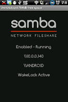 Screenshot of Samba Filesharing for Android