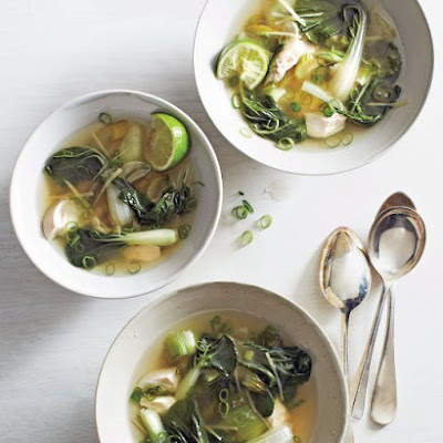 Bok Choy and Chicken Soup