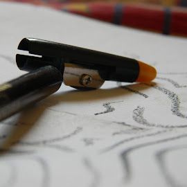 Black Pen by Praveen Kumar - Artistic Objects Other Objects ( pen, liner, gold, closeup, black )