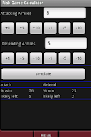 Screenshot of Risk Game Calculator Full