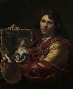 RIJKS: Adriaen van der Werff: Self-portrait with the Portrait of his Wife, Margaretha van Rees, and their Daughter Maria 1699