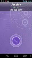 Screenshot of RocketDial CallerID Purple