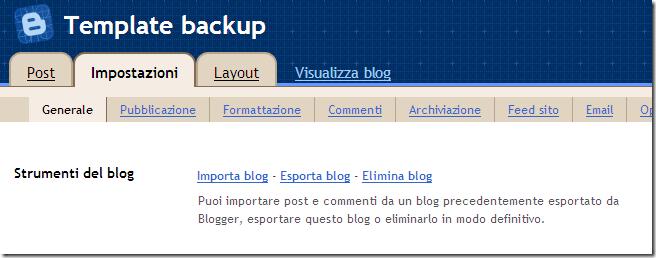Blogger in draft-Template backup - Impostazioni base_1214824223340