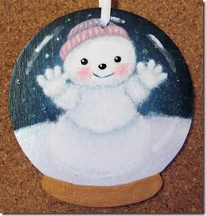 Snowman Snowglobe Ornament