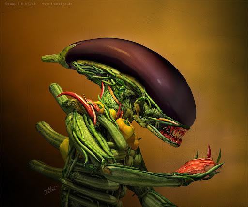 Vegetais Comendo