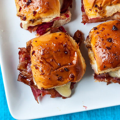 Bacon, Brie, and Cranberry Sliders