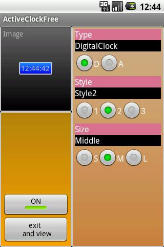 ActiveClockFree 常に表示時計