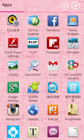 Screenshot of Launcher 8 theme:Love