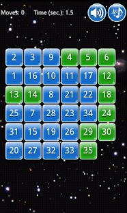 Fifteen puzzle - screenshot