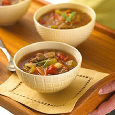 Hamburger-Turkey Vegetable Soup