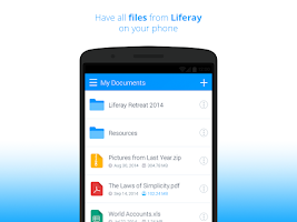 Screenshot of Liferay Sync