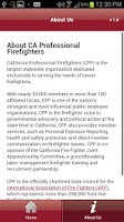 Screenshot of CA Professional Firefighters