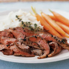 Roasted Flank Steak with Olive Oil-Herb Rub