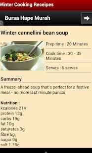 Free Winter Cooking Receipes - screenshot