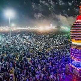 Shri Gavisiddeshwara Math Koppal, Car Festival by Srinivas Dalabanjan - City,  Street & Park  Street Scenes