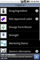 Screenshot of FDA Drugs Free