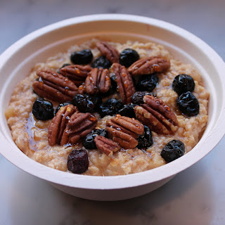 Apples & Cinnamon Oatmeal with Cranberries and Pecans