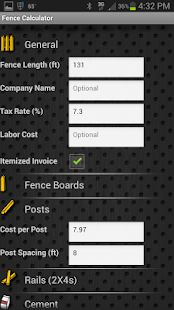 Fence Calculator - screenshot
