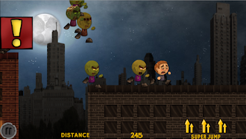 Screenshot of Yikes! Zombies! Run! 2