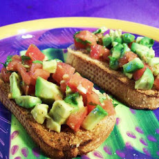 Simple Tomato & Avocado Crostini