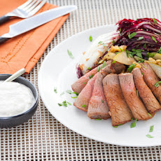 Roast Beef with Horseradish Sour Cream & Grilled Treviso