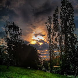 On The Way To Rebro by Branko Meic-Sidic - City,  Street & Park  City Parks ( hill, hdr, park, rebro, grass, sunset, croatia, trees, zagreb )