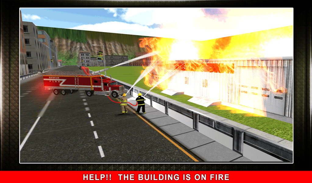 911 Rescue Fire Truck 3D Sim Screenshot 13