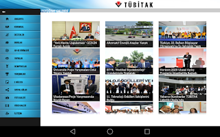 Screenshot of TÜBİTAK