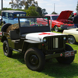 The Wilies First Aid Jeep by Jefferson Welsh - Transportation Automobiles