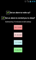 Screenshot of Sleep Cycles