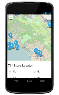 the 711 Locator - screenshot