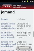 Screenshot of Deutsch-Italienisch? OK!