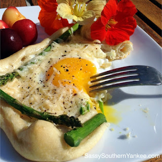 Asparagus and Egg Tart with Parmesan