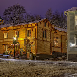 Night Lights by Bojan Bilas - Buildings & Architecture Other Exteriors ( naantali, hdr, exterior, street, neighborhood, finland, long exposure, night, architecture, city )