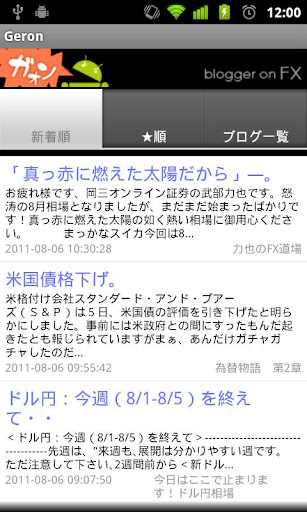blogger on FX 「ガオン」