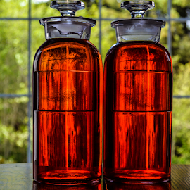 Old Med Bottles by Jeanne Knoch - Artistic Objects Glass (  )