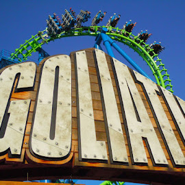 Goliath by Bob Cornellier - City,  Street & Park  Amusement Parks ( hyper, six flags new england, goliath, boomerang, roller coaster, vekoma, inverted, six flags )