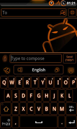 GOKeyboard Theme Glow Orange