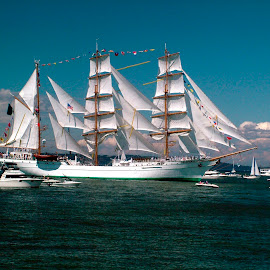 Cuauhtemoc by Pete Bobb - Transportation Boats ( cuauhtemoc, puget sound, tall ships, sail, commencement bay, mexican navy )