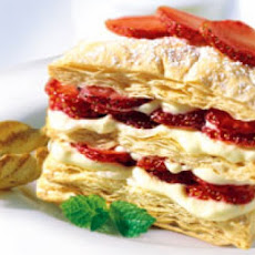 Fresh Fruit Napoleons with Whipped Cream