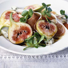 Fig, Gorgonzola & prosciutto salad
