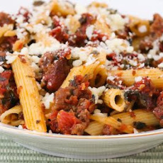 Chunky Pasta Sauce With Italian Sausage, Roasted Tomatoes, Garlic, and Basil