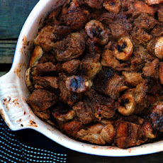 Banana-Dulce de Leche Bread Pudding